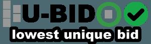 U-bid lowest unique bid auction
